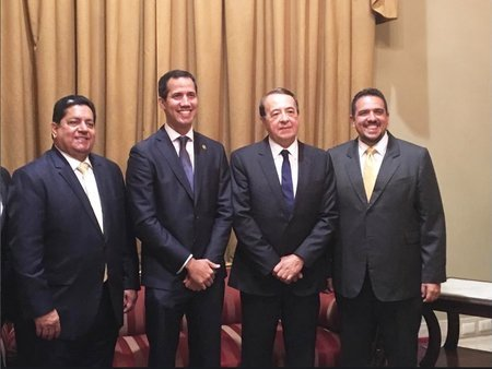 Leadership of the National Assembly of Venezuela with the SI Secretary General
