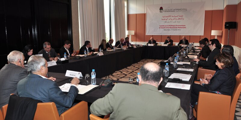 Meeting of the SI Committee on Economic Policy, Labour and National Resources, in Rabat